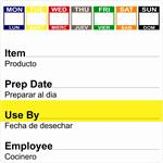 "2"" x 2"" Removable 7 Day 7 Color Shelf Life Date Label®"