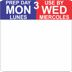 "1"" x 1"" Removable Prep Day-Use By (3-day) Date Labels®"