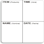 "2"" x 2"" Dissolvable Item-Time Date Label®"