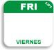 "1"" x 1"" Durable Day of the Week Date Labels®"
