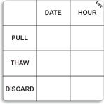 "2"" x 2"" Durable Pull-Thaw Date Label®"