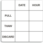 "2"" x 2"" Removable Pull-Thaw Date Label®"